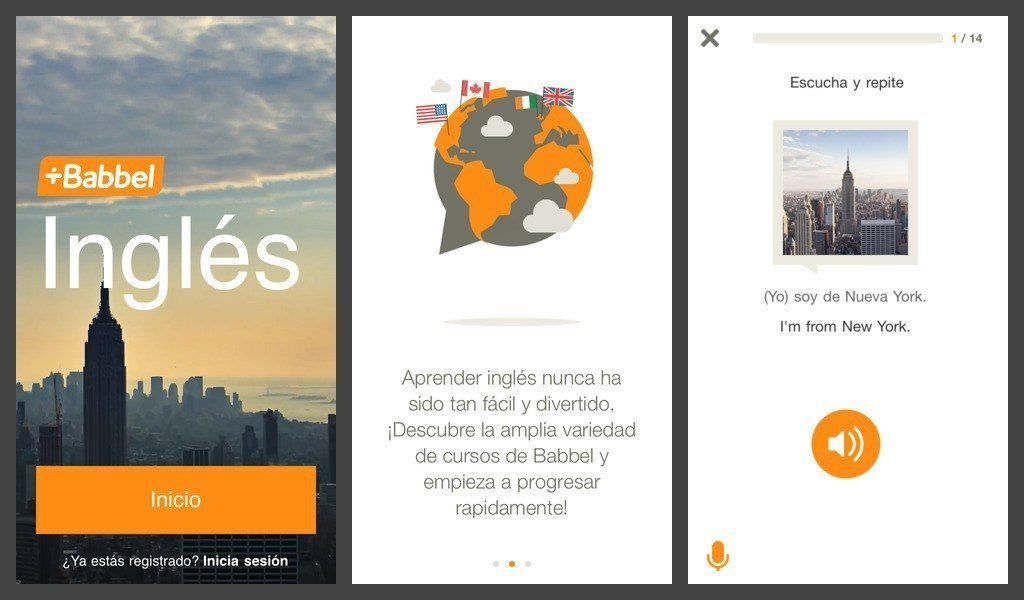 Babbel en iOS de Iphone