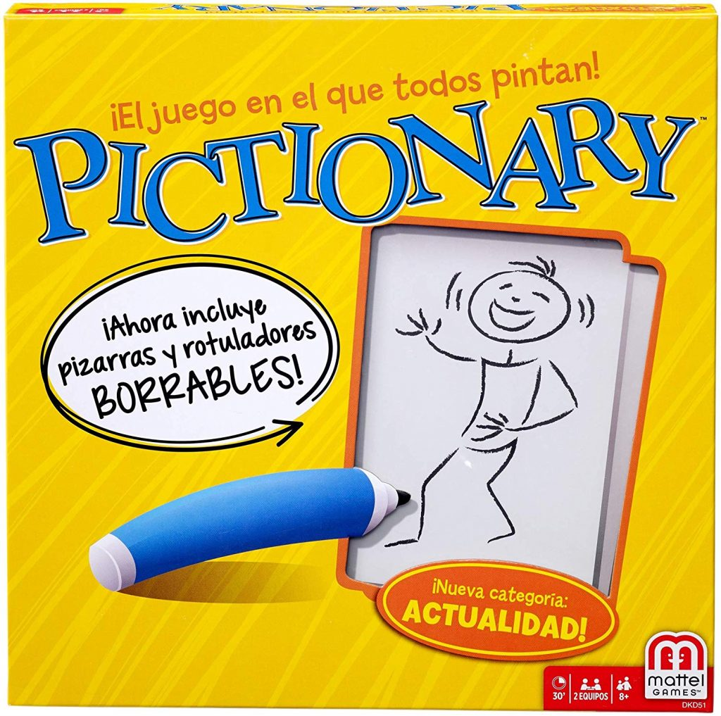 El juego Pictionary para aprender idiomas
