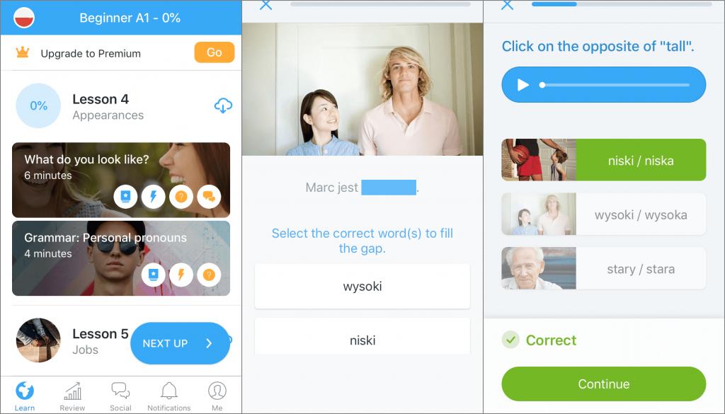 La red social Busuu en iOS de Iphone